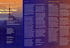The Yuval Ron Ensemble flyer